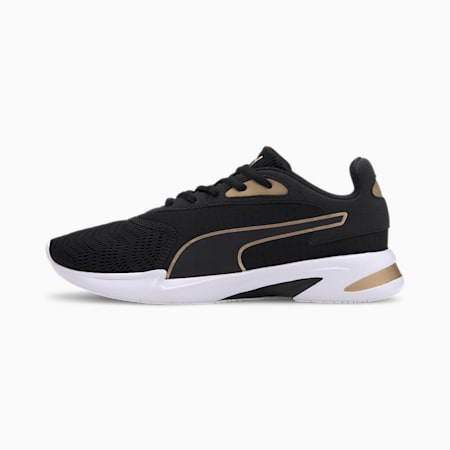 Jaro Metal Women's Running Shoes, Puma Black-Gold, small