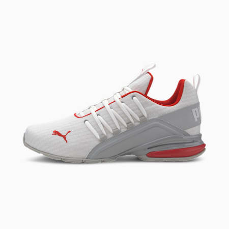 Axelion Block Men's Running Shoes, Puma White-High Rise-Red, small