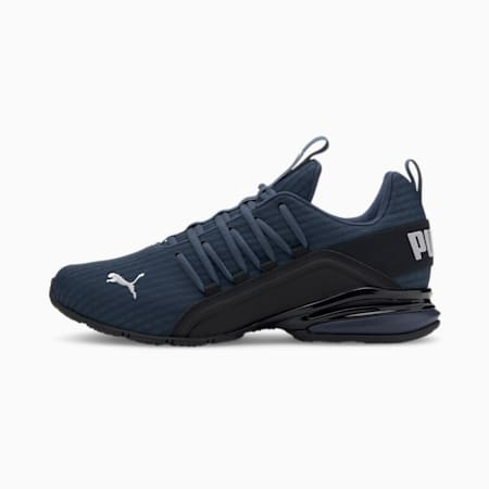 Axelion Block Men's Running Shoes, Dark Denim-Black-High Rise, small