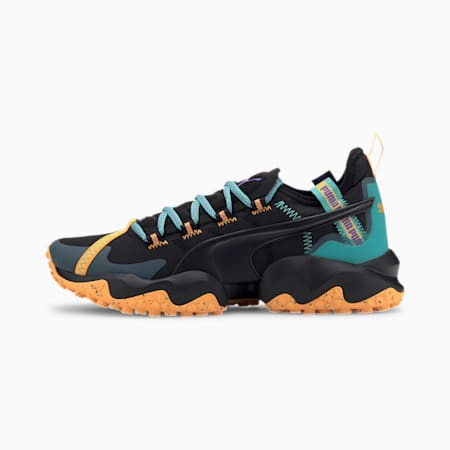 Erupt Trail Running Shoes, Puma Black-Blue Turquoise, small