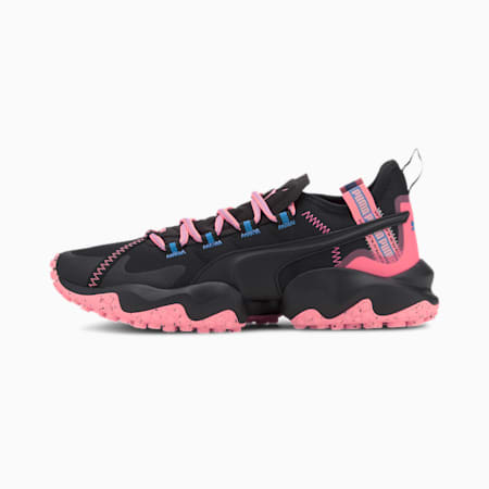 Erupt Trail Running Shoes, Puma Black-Nrgy Peach, small