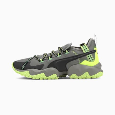 Erupt Trail Running Shoes, Ultra Gray-Fizzy Yellow, small