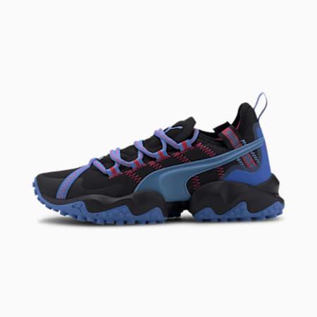 Erupt Women's Trail Running Shoes, Puma Black-Blue Glimmer, small