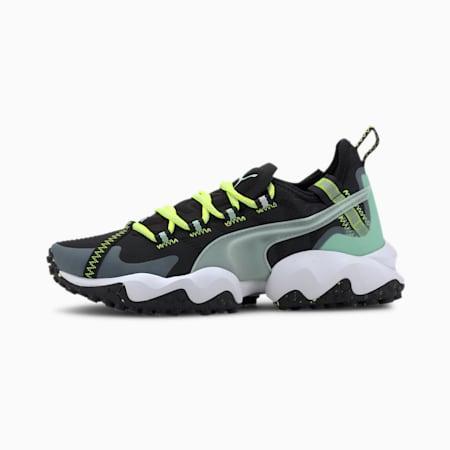 Erupt Women's Trail Running Shoes, Puma Black-Mist Green, small