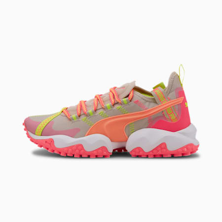 Erupt Trail Women's Running Shoes, Silver Cloud-Ignite Pink, small-SEA