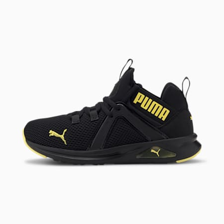 Enzo 2 Weave Youth Trainers, Puma Black-Meadowlark, small