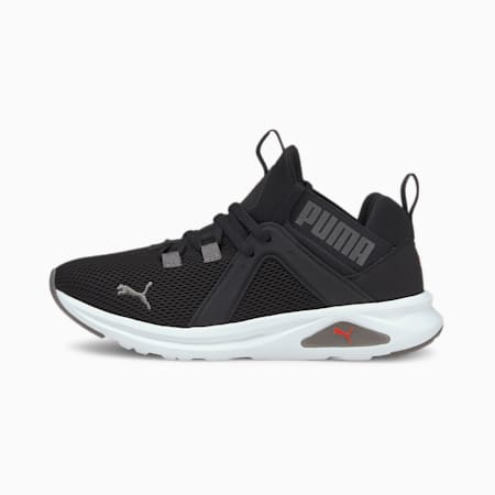 Enzo 2 Weave Jr Shoes, Puma Black-Poppy Red, small-IND