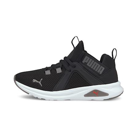 Zapatos de entrenamiento Enzo2 JR para niños, Puma Black-Poppy Red, pequeño