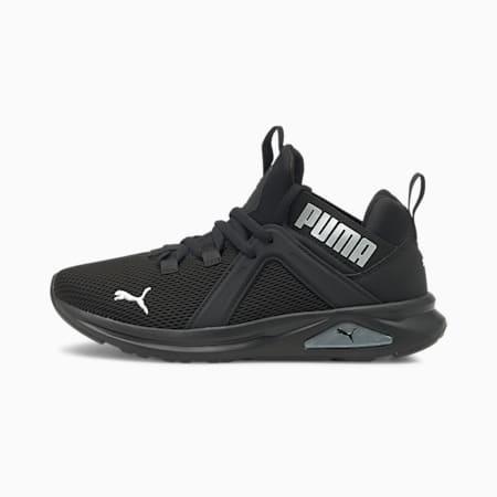 Enzo 2 Weave Youth Sneaker, Puma Black-Puma Silver, small