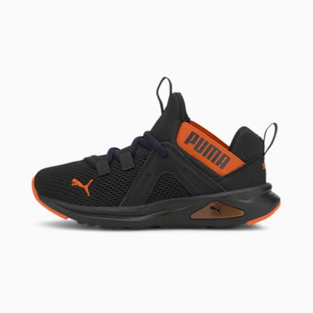Enzo 2 Weave Kids Sneaker, Puma Black-Dragon Fire, small