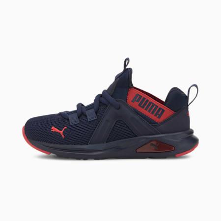 Enzo 2 Weave Kids Sneaker, Peacoat-High Risk Red, small