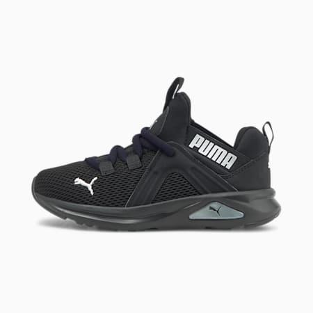 Enzo 2 Weave Kids Sneaker, Puma Black-Puma Silver, small