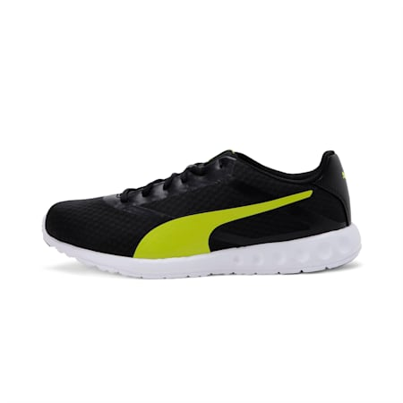 Convex Pro Men's Running Shoes, Puma Black-Limepunch, small-IND