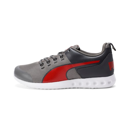 Chromeson IDP Running Shoes, Gray-Asphalt-Red-White, small-IND