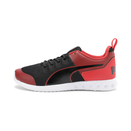 Chromeson IDP Running Shoes, Puma Black-High Risk Red, small-IND