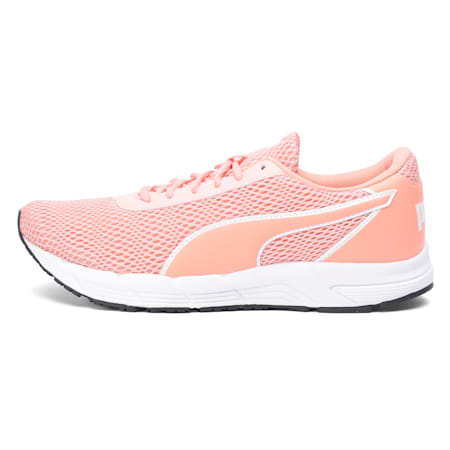 Metal Knit IDP Women's Running Shoes, Peach Bud-Bright Peach-White, small-IND
