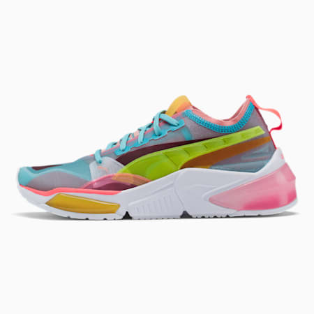 LQDCELL Optic Sheer Women's Training Shoes, Mlky Ble-Brdl Rose-Pnk Alert, small