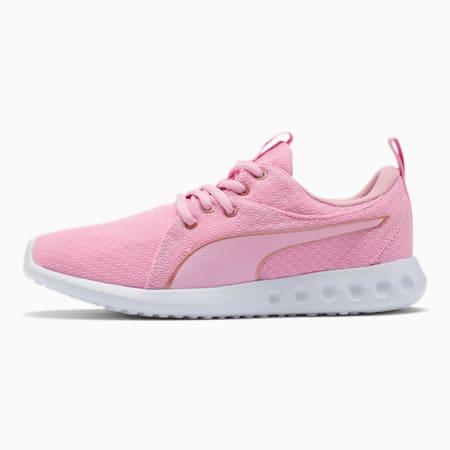 Carson 2 Metallic Mesh Shoes JR, Pale Pink-Rose Gold, small