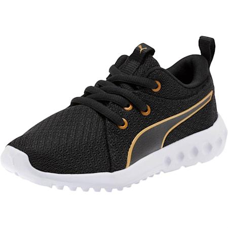 Carson 2 Metallic Mesh Little Kids' Shoes, Puma Black-Gold, small