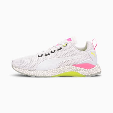 HYBRID Runner v2 Running Shoes, White-Yellow-High Rise-Pink, small