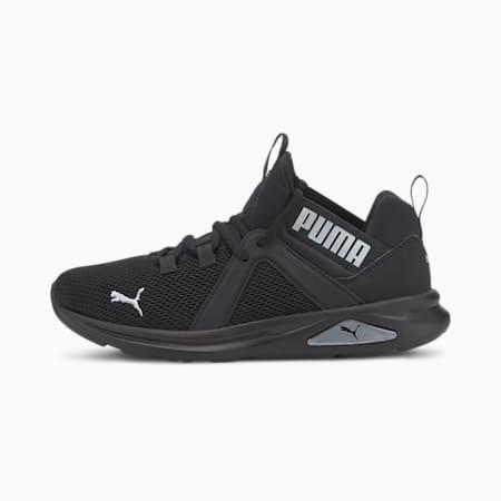 Zapatos de entrenamiento Enzo2 para mujer, Puma Black-Metallic Silver, pequeño