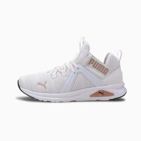 Enzo 2 Metal Women's Running Shoes, Puma White-Rose Gold, small