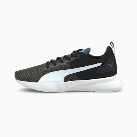 Flyer Runner Colour Twist Kid's Shoes, Puma White-Dark Shadow-Puma Black, small-IND