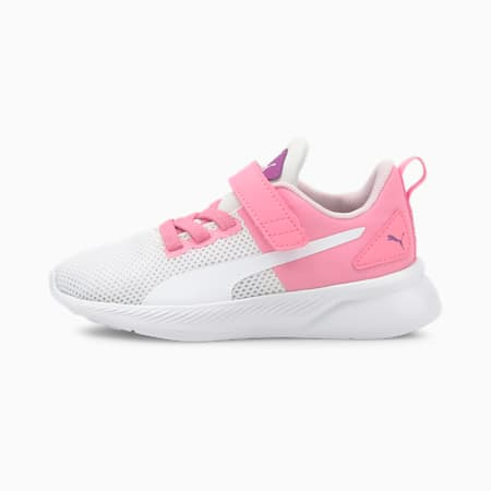 Flyer Runner Colour Twist Kid's Shoes, Puma White-Sachet Pink, small-IND