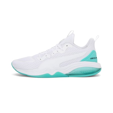 LQDCELL Tension one8 Training Shoes, Puma White-Blue Turquoise, small-IND