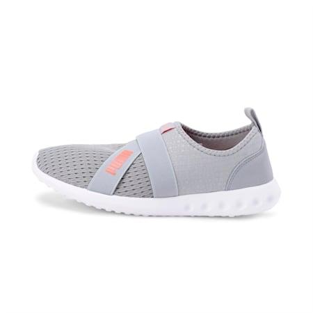 Cario Slip-on IDP Walking Shoe, Light Gray-Fluo Peach, small-IND