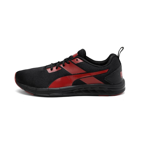 Meteor NU IDP Men's Running Shoes, Puma Black-High Risk Red, small-IND