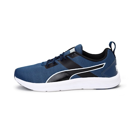 Meteor NU IDP Men's Running Shoes, Dark Denim-Puma White, small-IND