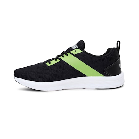 Meteor NU IDP Men's Running Shoes, Puma Black-Limepunch, small-IND