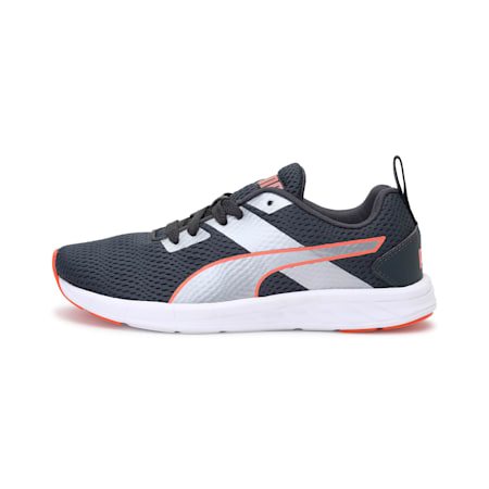 Meteor NU IDP Women's Running Shoes, Dark Shadow-Fusion Coral, small-IND