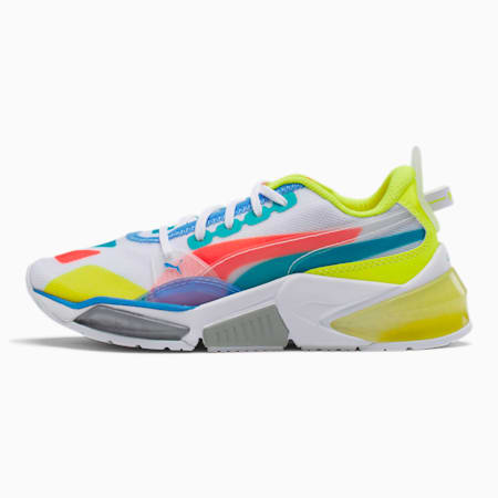 LQDCELL Optic Sheer Training Shoes JR, White-Nrgy Rose-Yellow, small