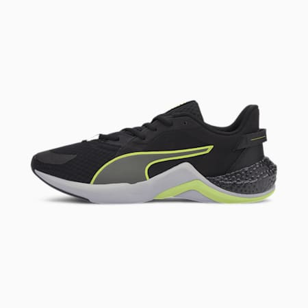 Hybrid NX Ozone Running Shoes, Blk-White-Fizzy Yellow-Gray, small-IND