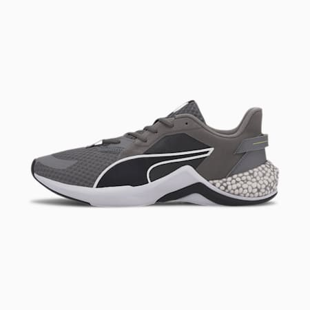 Hybrid NX Ozone Running Shoes, Blk-CASTLEROCK-Yellow-White, small-IND