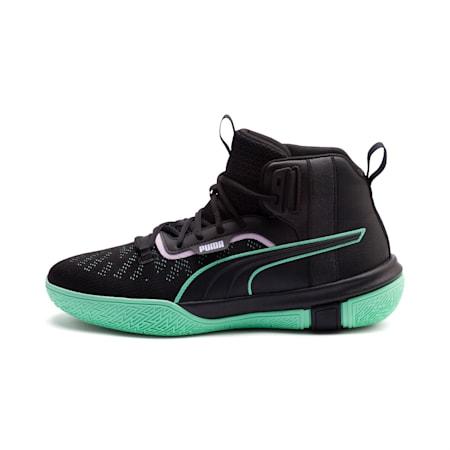 Legacy Dark Mode Basketball Shoes, Puma Black-Orchid Bloom, small-SEA