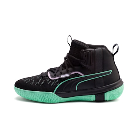 Legacy Dark Mode Basketball Shoes, Puma Black-Orchid Bloom, small-SEA