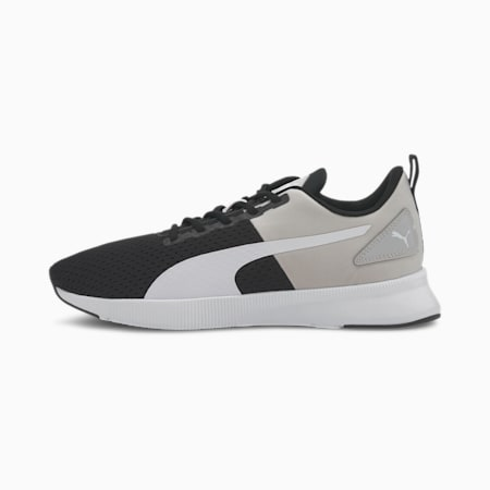 Flyer Runner Sport Shoes, Puma Black-Gray Violet-Puma White, small-IND