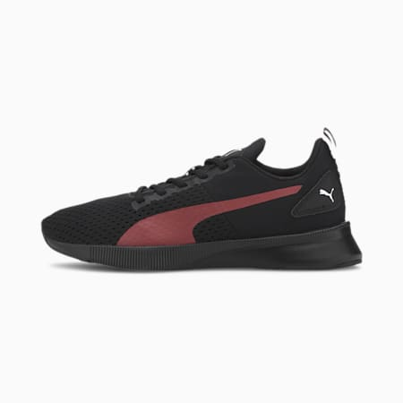 Flyer Runner Sport Shoes, Black-High Risk Red-White, small-IND