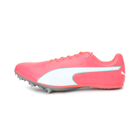 evoSPEED Sprint 10 Unisex Running Shoes, Ignite Pink-Puma Silver, small-IND