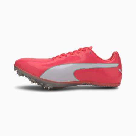 evoSPEED Sprint 10 Track Spikes, Ignite Pink-Puma Silver, small