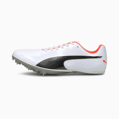 evoSPEED Sprint 10 Unisex Running Shoes, White-Black-Lava Blast, small-IND
