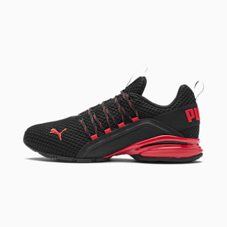Axelion Spark Men's Running Shoes, Puma Black-High Risk Red, small