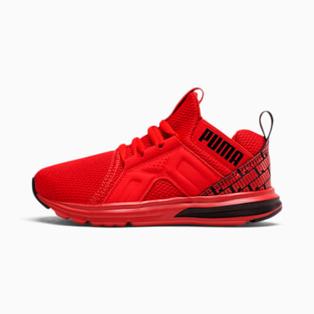 Enzo Repeat Logo Little Kids' Shoes, High Risk Red-Puma Black, small