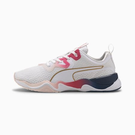 Zone XT Sunset Women's Training Shoes, Puma White-BRIGHT ROSE-Rose, small