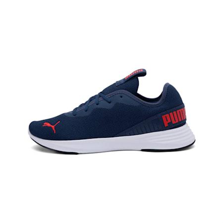Hustle XT Running Shoes, Dark Denim-High Risk Red, small-IND