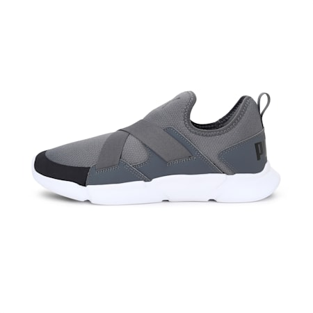 Strider v1 Slip-On Walking Shoes, CASTLEROCK-Puma Black-Puma White, small-IND