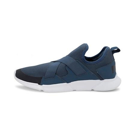 Strider v1 Slip-On Unisex Walking Shoes, Dark Denim-Puma Black-White, small-IND
